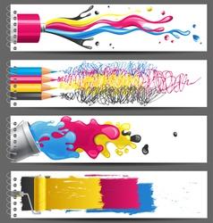 cmyk banners vector image
