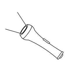 flashlight search optimization battery led bulb vector image