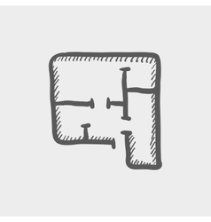 House infographic sketch icon vector