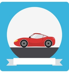 Sports car icon vector image vector image