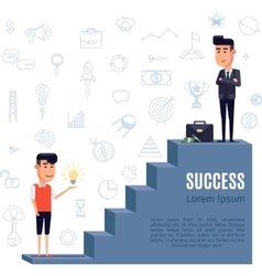 Success concept flat vector image