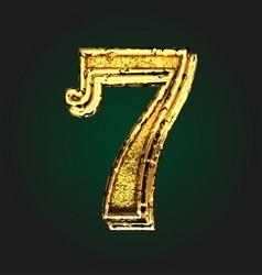 7 golden letter vector image vector image