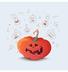 a pumpkin for Halloween vector image vector image