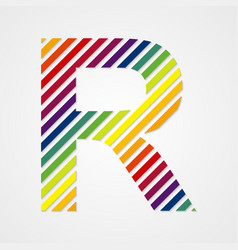 Alphabet Letter R vector image vector image