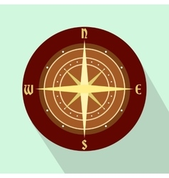 An ancient compass flat icon vector image vector image
