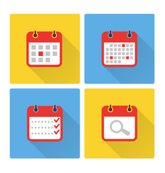 calendar and to do list colorful flat icons vector image vector image