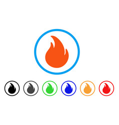 fire rounded icon vector image