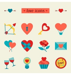 Set of Valentines and Wedding icons design vector image vector image