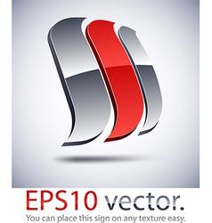 3D modern logo sail icon vector