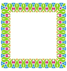 Abstract Colorful Ornamental Border Isolated on vector