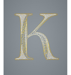 Abstract golden letter K vector image