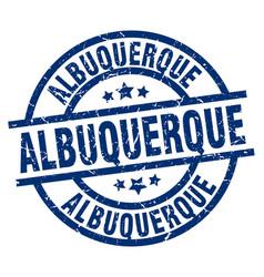 Albuquerque blue round grunge stamp vector