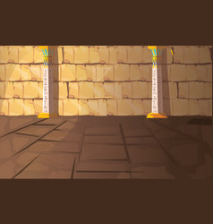 Ancient egypt pharaoh tomb or temple room vector