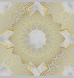 arabic golden seamless pattern on marble vector image