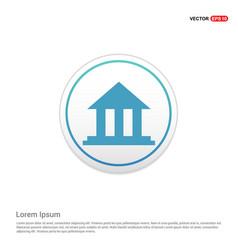 Bank icon - white circle button vector