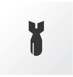 bomb icon symbol premium quality isolated rocket vector image