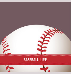 Bright baseball background vector