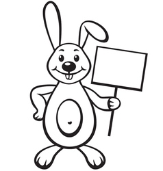 Bunny with sign vector