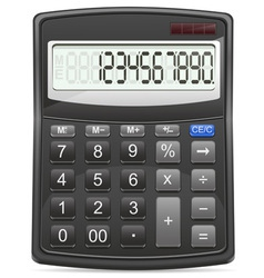 calculator 01 vector image