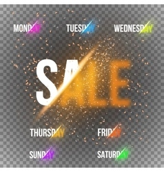 Calendar Week Days with Transparent Special vector