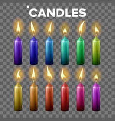 candles set transparent background vector image