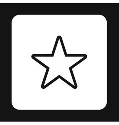Celestial star icon simple style vector