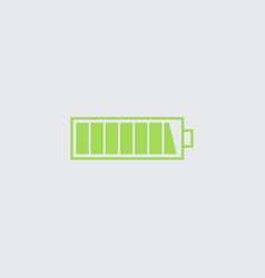 Charged battery icon vector