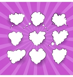 Comic valentine heart vector