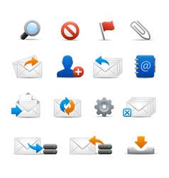 E-mail icons - set 3 3 - soft series vector