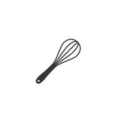 Egg whisk icon in silhouette design vector
