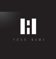 fi letter logo with black and white negative vector image