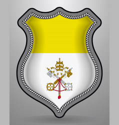 flag of vatican city badge and icon vector image