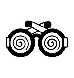 funny eyeglasses april fools line vector image