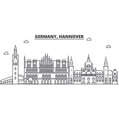 Germany hannover architecture line skyline vector
