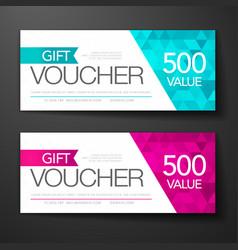 Gift voucher template set vector