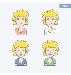 Girl avatars vector