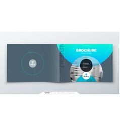 Grey silver brochure design horizontal cover vector