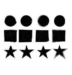 grunge stamp drawn element brush circle brush vector image
