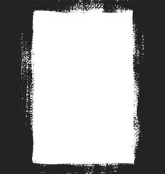 grungy frame rectangle for image grunge black vector image