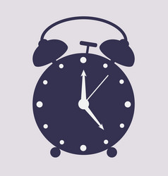 hand drawn alarm clock isolated on white vector image