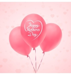 Happy Mothers Day background template vector image