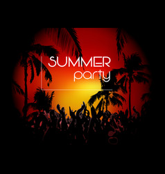 hello summer beach party flyer disco party vector image