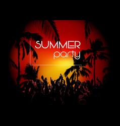 hello summer beach party flyer disco party vector image