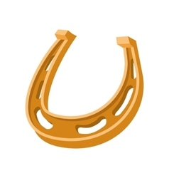Horseshoe cartoon icon vector image