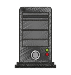 Isolated cpu design vector