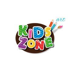 kids zone cartoon icon for playroom education vector image
