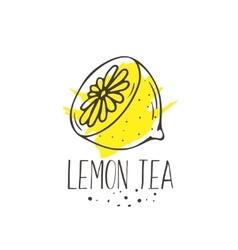 Lemon tea print vector