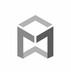 m logo technology style vector image