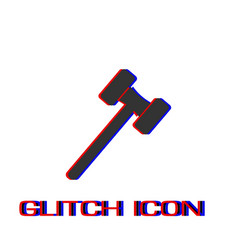 mallet icon flat vector image