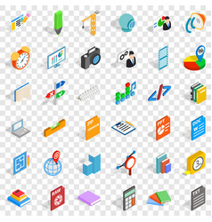 Marker icons set isometric style vector